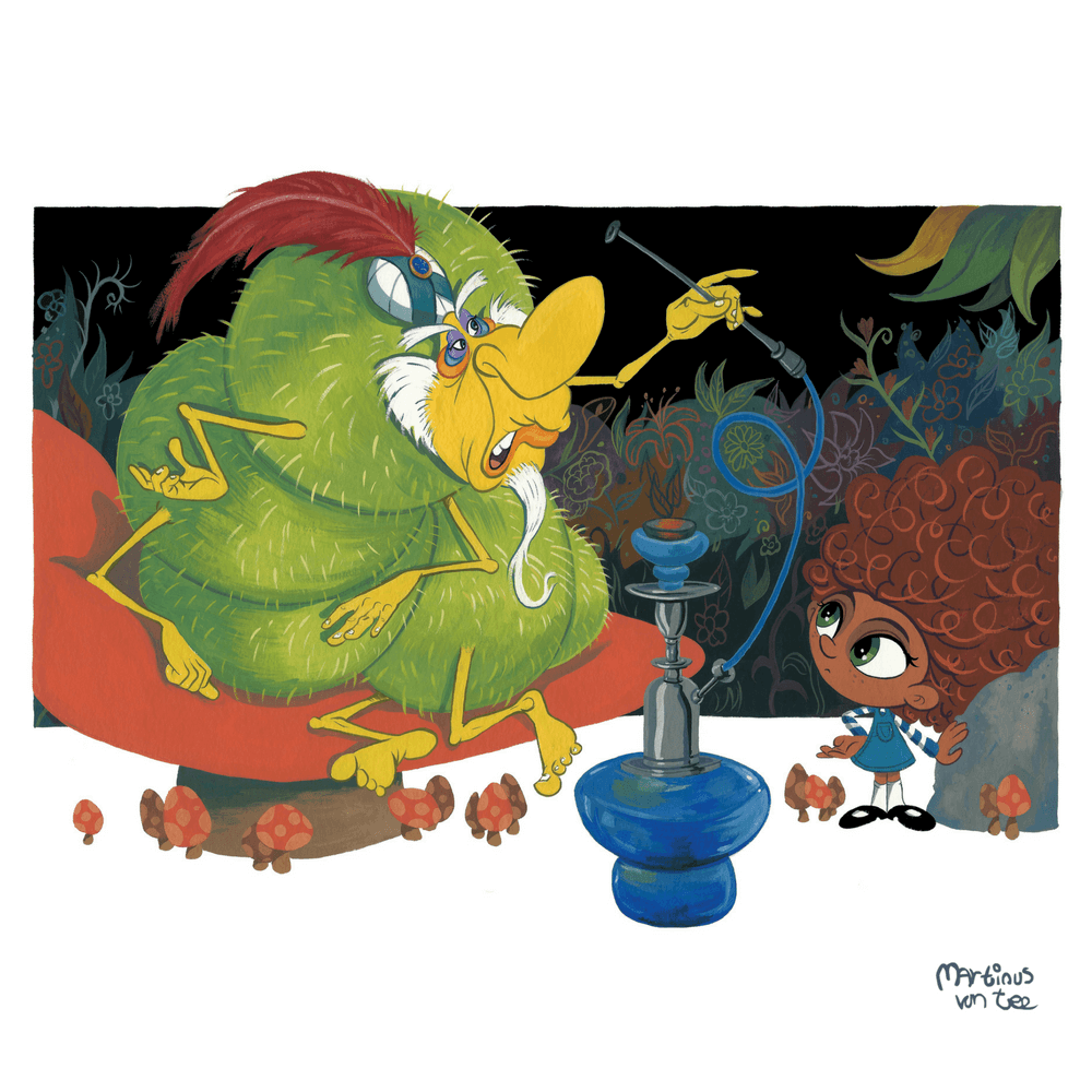 Alice and The Caterpillar by Martinus van Tee