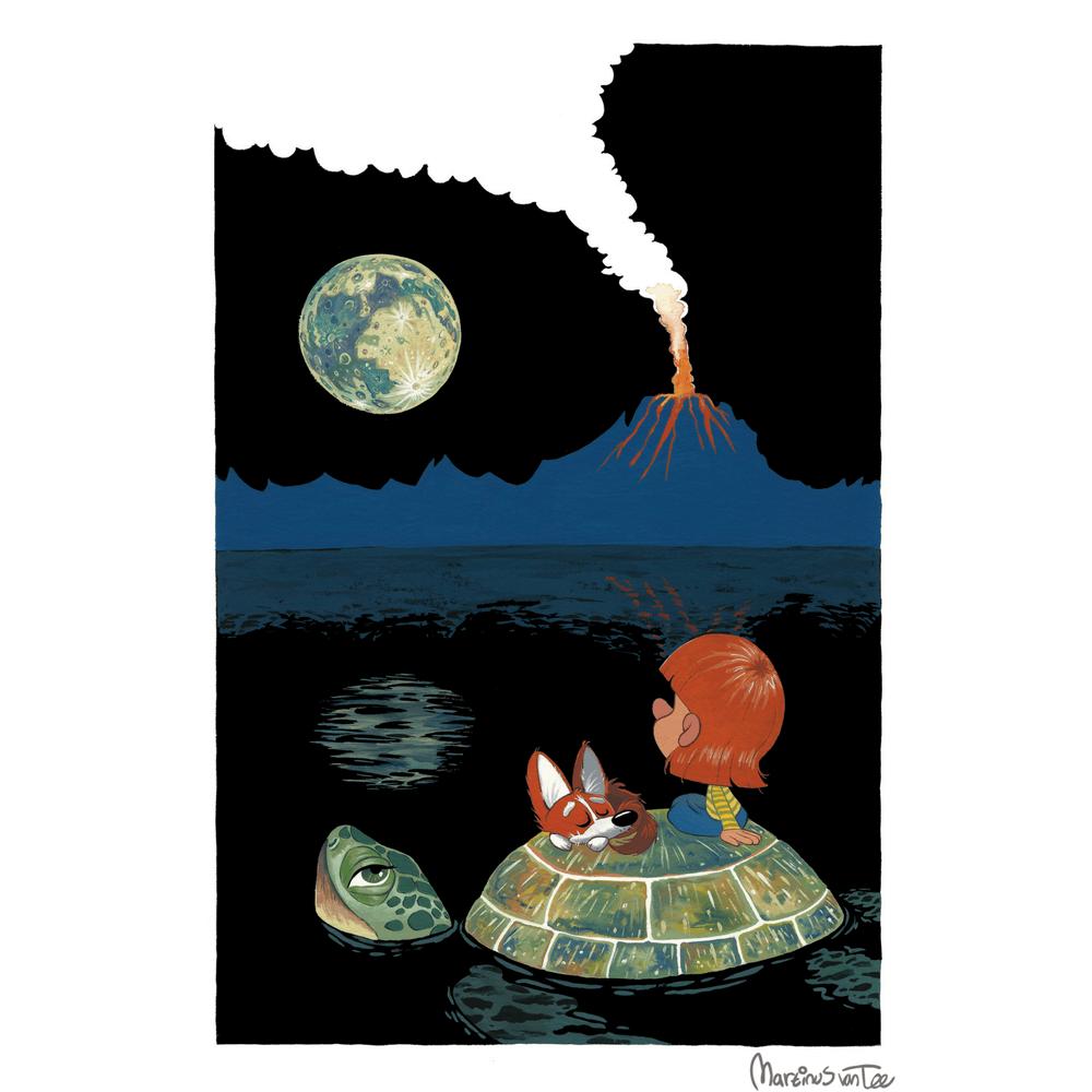 Full Moon Meander by Martinus van Tee