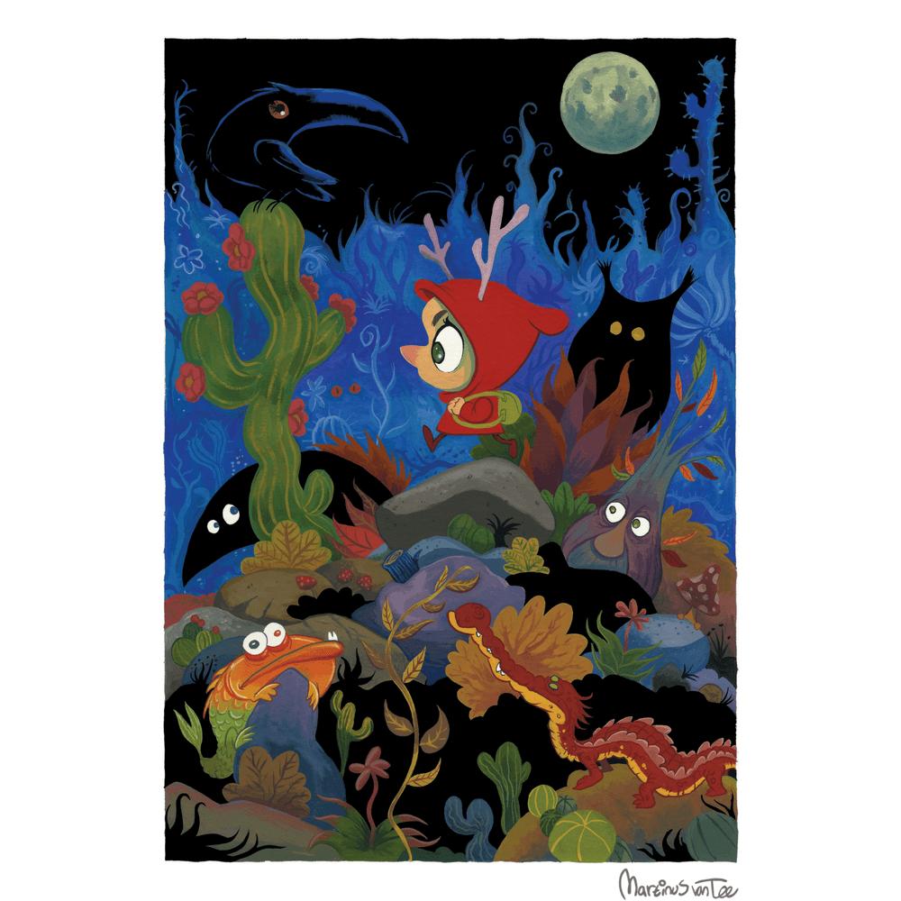 Little Red by Martinus van Tee